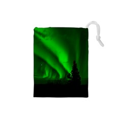 Aurora Borealis Northern Lights Drawstring Pouches (small)