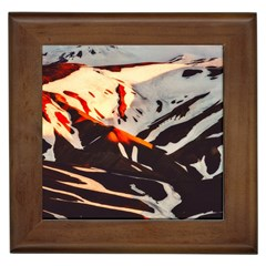 Iceland Landscape Mountains Snow Framed Tiles by BangZart