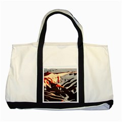 Iceland Landscape Mountains Snow Two Tone Tote Bag