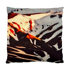 Iceland Landscape Mountains Snow Standard Cushion Case (one Side)
