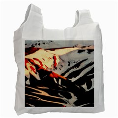 Iceland Landscape Mountains Snow Recycle Bag (two Side)