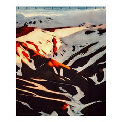 Iceland Landscape Mountains Snow Shower Curtain 60  X 72  (medium)