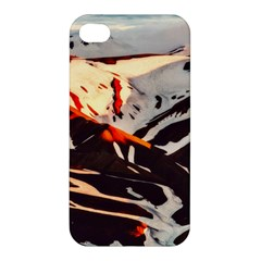 Iceland Landscape Mountains Snow Apple Iphone 4/4s Hardshell Case