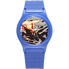 Iceland Landscape Mountains Snow Round Plastic Sport Watch (s)