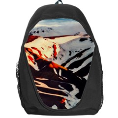 Iceland Landscape Mountains Snow Backpack Bag