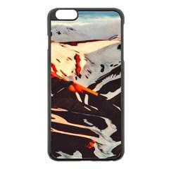 Iceland Landscape Mountains Snow Apple Iphone 6 Plus/6s Plus Black Enamel Case by BangZart