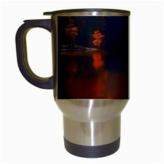 River Water Reflections Autumn Travel Mugs (white)
