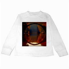 River Water Reflections Autumn Kids Long Sleeve T Shirts