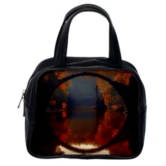River Water Reflections Autumn Classic Handbags (one Side)