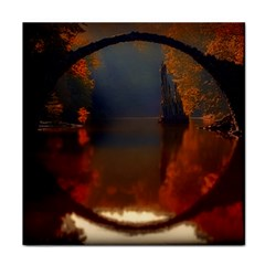 River Water Reflections Autumn Face Towel