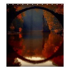 River Water Reflections Autumn Shower Curtain 66  X 72  (large)  by BangZart