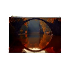 River Water Reflections Autumn Cosmetic Bag (large)