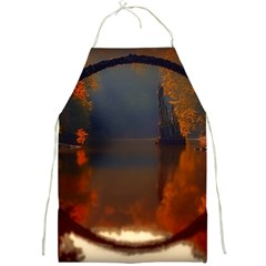 River Water Reflections Autumn Full Print Aprons