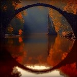 River Water Reflections Autumn Magic Photo Cubes Side 5