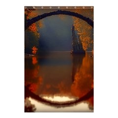 River Water Reflections Autumn Shower Curtain 48  X 72  (small)