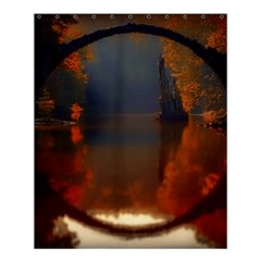 River Water Reflections Autumn Shower Curtain 60  X 72  (medium)  by BangZart