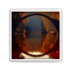 River Water Reflections Autumn Memory Card Reader (square)  by BangZart