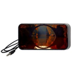 River Water Reflections Autumn Portable Speaker