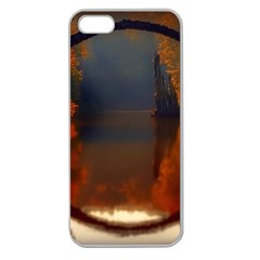 River Water Reflections Autumn Apple Seamless Iphone 5 Case (clear) by BangZart