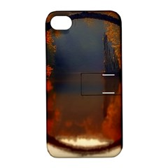 River Water Reflections Autumn Apple Iphone 4/4s Hardshell Case With Stand