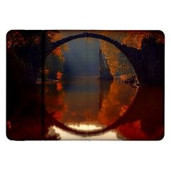 River Water Reflections Autumn Samsung Galaxy Tab 8 9  P7300 Flip Case