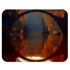 River Water Reflections Autumn Double Sided Flano Blanket (medium)  by BangZart