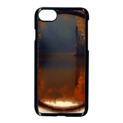 River Water Reflections Autumn Apple Iphone 7 Seamless Case (black)