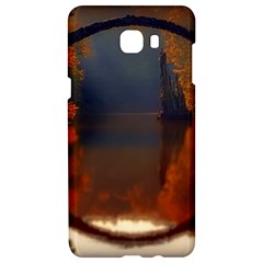 River Water Reflections Autumn Samsung C9 Pro Hardshell Case  by BangZart