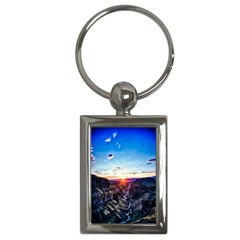 Iceland Landscape Mountains Stream Key Chains (rectangle)