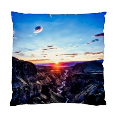 Iceland Landscape Mountains Stream Standard Cushion Case (two Sides) by BangZart