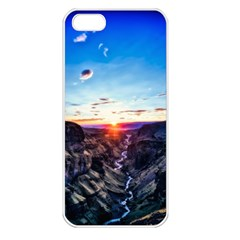 Iceland Landscape Mountains Stream Apple Iphone 5 Seamless Case (white)