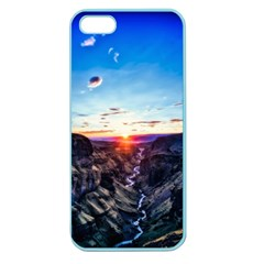Iceland Landscape Mountains Stream Apple Seamless Iphone 5 Case (color)
