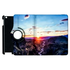 Iceland Landscape Mountains Stream Apple Ipad 2 Flip 360 Case