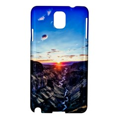 Iceland Landscape Mountains Stream Samsung Galaxy Note 3 N9005 Hardshell Case by BangZart