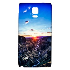 Iceland Landscape Mountains Stream Galaxy Note 4 Back Case