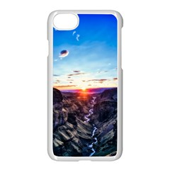 Iceland Landscape Mountains Stream Apple Iphone 7 Seamless Case (white)