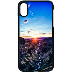 Iceland Landscape Mountains Stream Apple Iphone X Seamless Case (black)