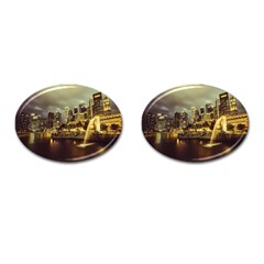 Singapore City Urban Skyline Cufflinks (oval) by BangZart