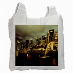 Singapore City Urban Skyline Recycle Bag (two Side)