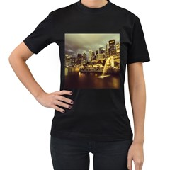 Singapore City Urban Skyline Women s T Shirt (black) by BangZart