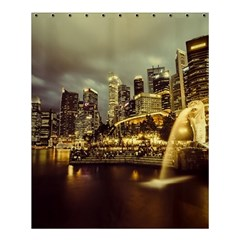 Singapore City Urban Skyline Shower Curtain 60  X 72  (medium)  by BangZart