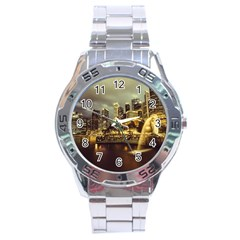Singapore City Urban Skyline Stainless Steel Analogue Watch by BangZart