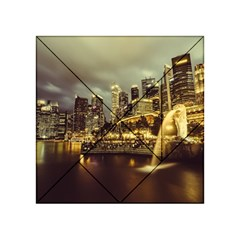 Singapore City Urban Skyline Acrylic Tangram Puzzle (4  X 4 )