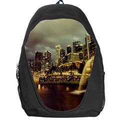 Singapore City Urban Skyline Backpack Bag