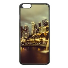 Singapore City Urban Skyline Apple Iphone 6 Plus/6s Plus Black Enamel Case by BangZart