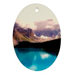 Austria Mountains Lake Water Ornament (oval)