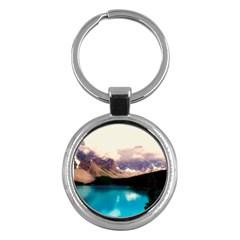 Austria Mountains Lake Water Key Chains (round)