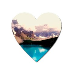 Austria Mountains Lake Water Heart Magnet