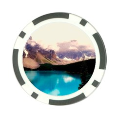 Austria Mountains Lake Water Poker Chip Card Guard (10 Pack)