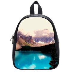 Austria Mountains Lake Water School Bag (small) by BangZart